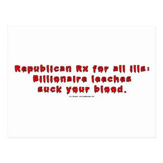 RepublicanLeeches Postcard