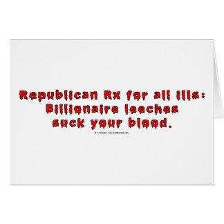 RepublicanLeeches Tarjeta De Felicitación