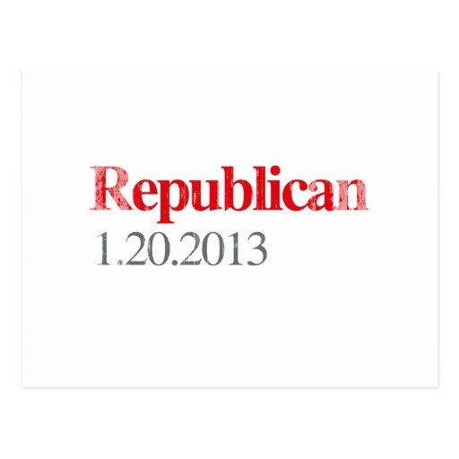 REPUBLICANO 1-20-2013 Faded.png Tarjeta Postal