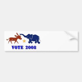 REPUBLICANO 2008 DE LA PEGATINA PARA EL PARACHOQUE ETIQUETA DE PARACHOQUE