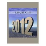 Republicano 2012 tarjetas postales