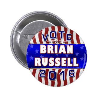 Republicano 2016 del presidente elección de Brian Pin Redondo 5 Cm