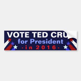 Republicano 2016 del presidente elección de Ted Pegatina Para Auto