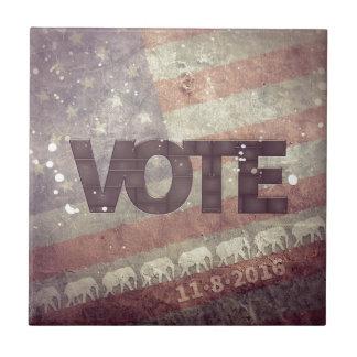 Republicano 2016 del voto azulejo cuadrado pequeño