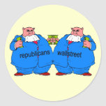 Republicano anti divertido etiquetas redondas
