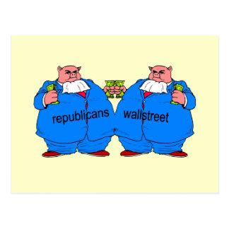 Republicano anti divertido postal