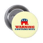 Republicano anti pin redondo de 2 pulgadas