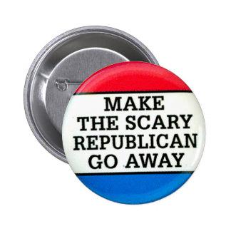 Republicano asustadizo - botón pin redondo de 2 pulgadas