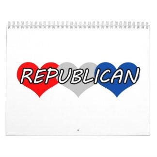 Republicano Calendario De Pared