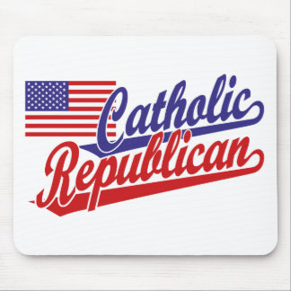 Republicano católico mouse pads