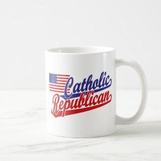 Republicano católico taza básica blanca
