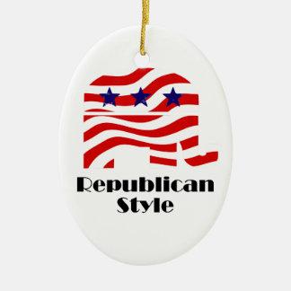 Republicano con el estilo (2) adornos de navidad