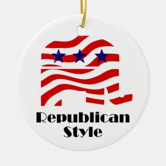 Republicano con el estilo (2) ornatos