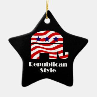 Republicano con estilo ornamentos para reyes magos