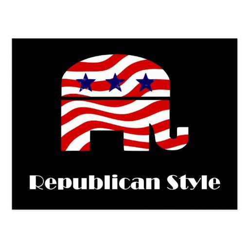 Republicano con estilo tarjetas postales