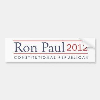 Republicano constitucional de Ron Paul 2012 Pegatina Para Auto