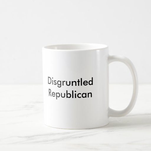 Republicano contrariedad taza