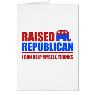 Republicano criado. Puedo ayudarme Tarjeta De Felicitación