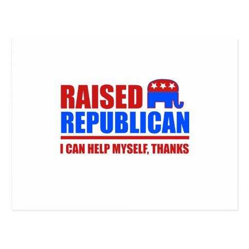 Republicano criado. Puedo ayudarme Tarjeta Postal