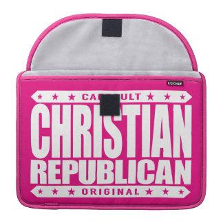 REPUBLICANO CRISTIANO - dios ama a todos los Fundas Macbook Pro