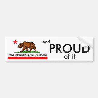 Republicano de California Pegatina Para Auto
