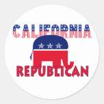 Republicano de California Pegatinas Redondas