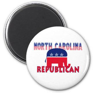 Republicano de Carolina del Norte Imán Redondo 5 Cm