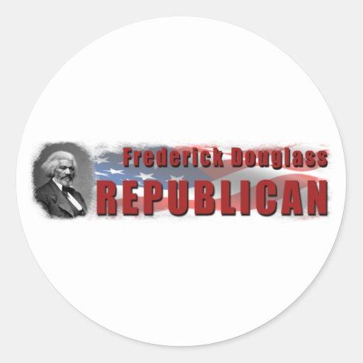 Republicano de Frederick Douglass Pegatina Redonda