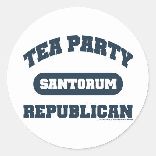 Republicano de la fiesta del té pegatina redonda