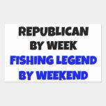 Republicano de la leyenda de la pesca rectangular altavoz