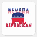 Republicano de Nevada Calcomanía Cuadradas