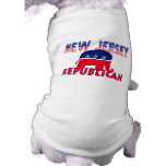 Republicano de New Jersey Camisetas De Mascota