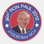Republicano de Ron Paul 2012 del voto Pegatina Redonda