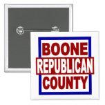 """Republicano del condado de Boone - 2"""" x 2"""" botón c Pins"""