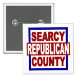 """Republicano del condado de Searcy 2"""" x 2"""" botón cu Pin"""