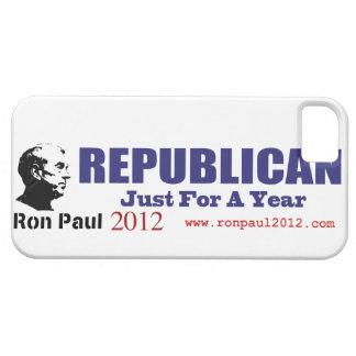 REPUBLICANO del voto apenas por un año Ron Paul iPhone 5 Funda