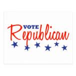 Republicano del voto (estrellas) postales