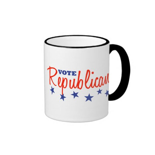 Republicano del voto (estrellas) taza a dos colores