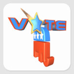 Republicano del voto etiqueta