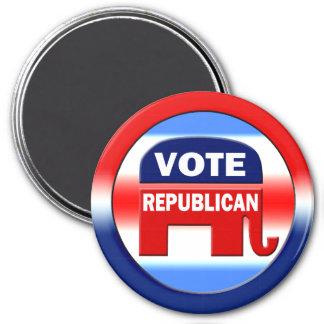 Republicano del voto imán redondo 7 cm