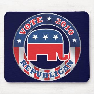 Republicano del voto Mousepad 2010 Tapetes De Ratón