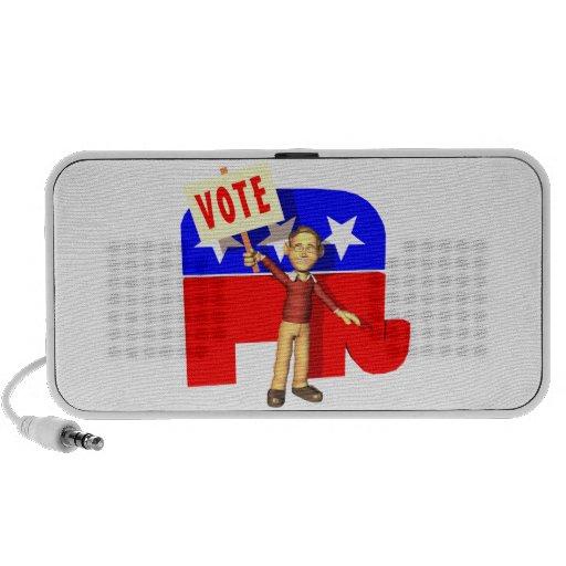 Republicano del voto notebook altavoces