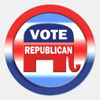 Republicano del voto pegatina redonda