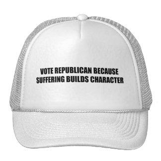 Republicano del voto porque el sufrimiento constru gorros bordados