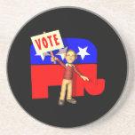 Republicano del voto posavaso para bebida