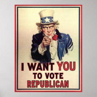 Republicano del voto póster