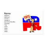 Republicano del voto tarjeta de visita