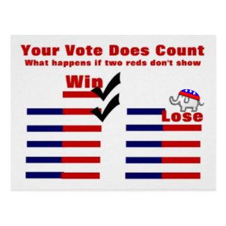 Republicano del voto tarjeta postal