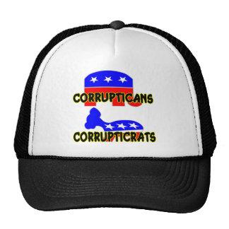 Republicano Demócrata de Corrupticans Corrupticrat Gorro De Camionero