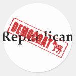 Republicano: DEMÓCRATA Etiquetas
